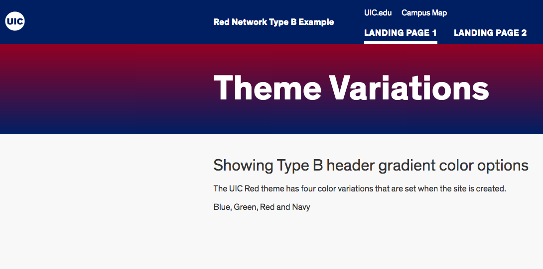 screenshot of navy theme variation