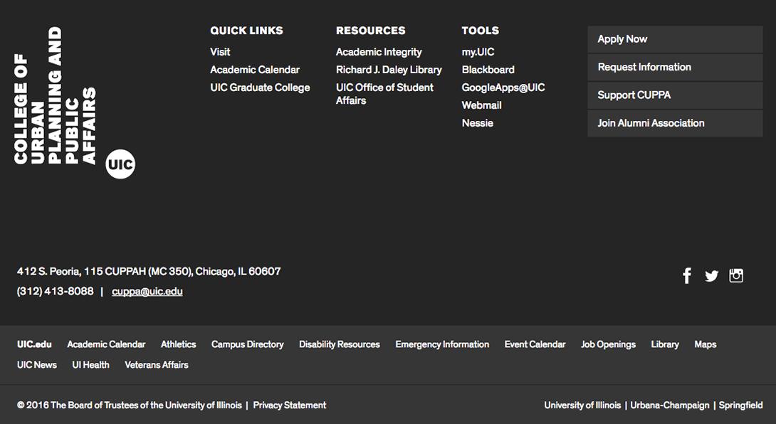 screenshot of mega footer example
