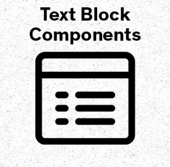 text block icon