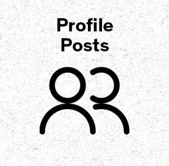 icon representing profiles post